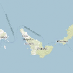 Χάρτης: Σκιάθος, Σκόπελος, Αλόννησος (Σποράδες)